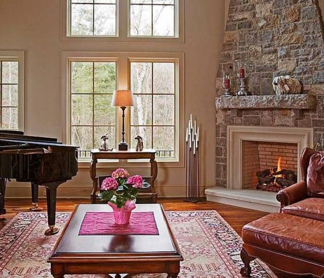 capri corner fireplace design