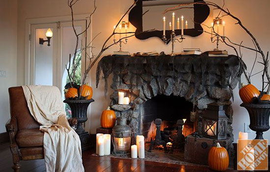 credit martha stewart halloween decoration ideas for your fireplace mantel - Halloween Decorations Martha Stewart