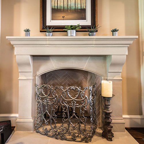 Amhurst | Cast Stone Fireplace Mantel