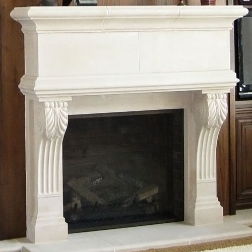 Berkley | Cast Stone Fireplace