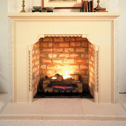 Brentwood | Cast Stone Fireplace