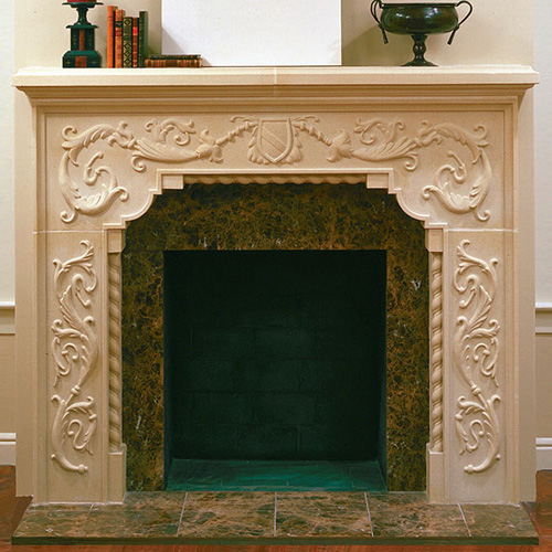 Carbed Brentwood | Cast Stone Fireplace