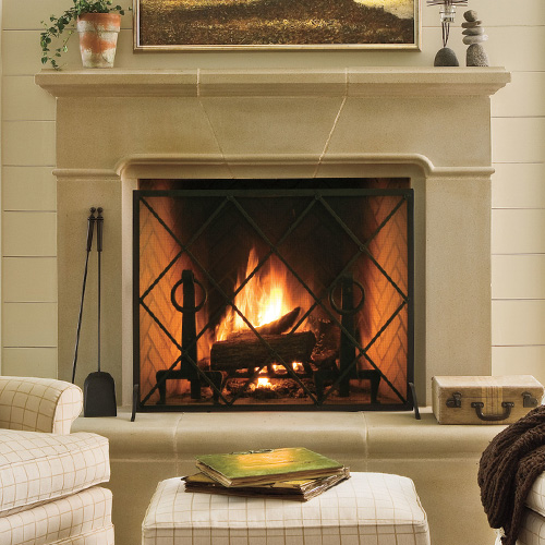 Conrad | Cast Stone Fireplace