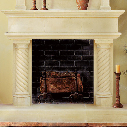 Cordova | Cast Stone Fireplace