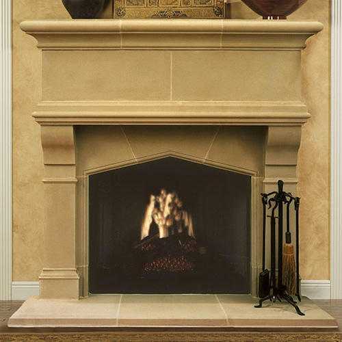 Gatwick | Cast Stone Fireplace
