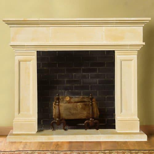 Hampton | Cast Stone Fireplace