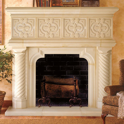 European Fireplace Mantel Design Majorca