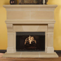 Mandalay | Cast Stone Fireplace