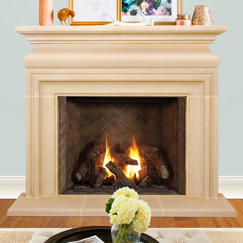 Newcastle | Cast Stone Fireplace