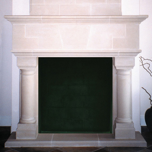 Valencia | Cast Stone Fireplace