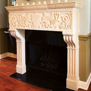 European Fireplace Mantel Design Verona