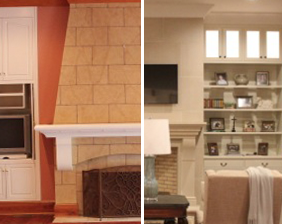 Whitmoore fireplace makeover