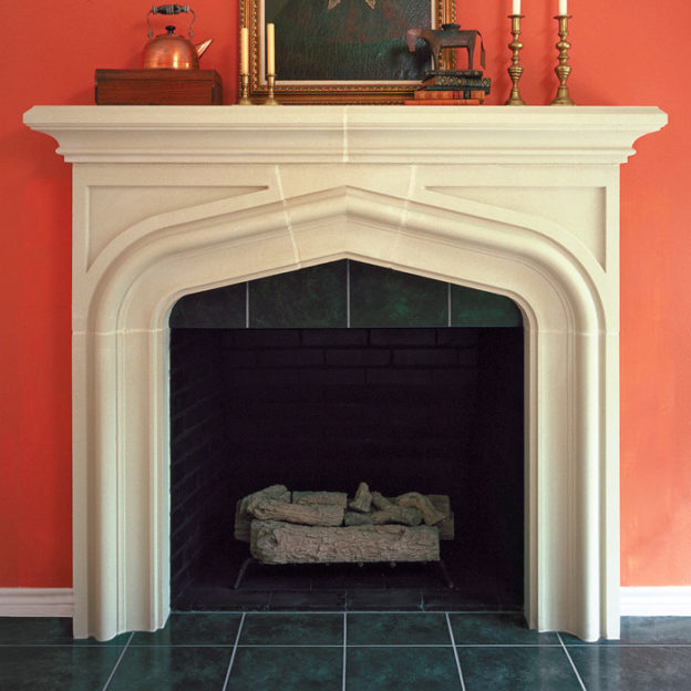 Laurent | Cast Stone Fireplace