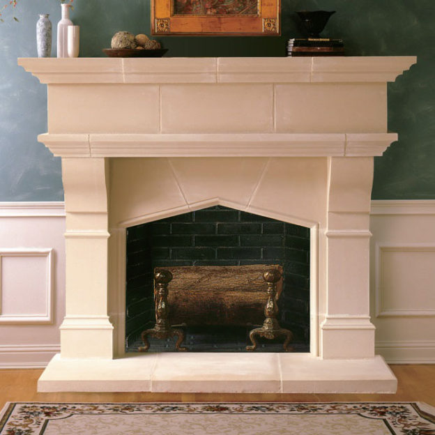 Lexington | Cast Stone Fireplace