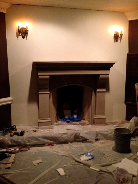 amhurst mantel installation project