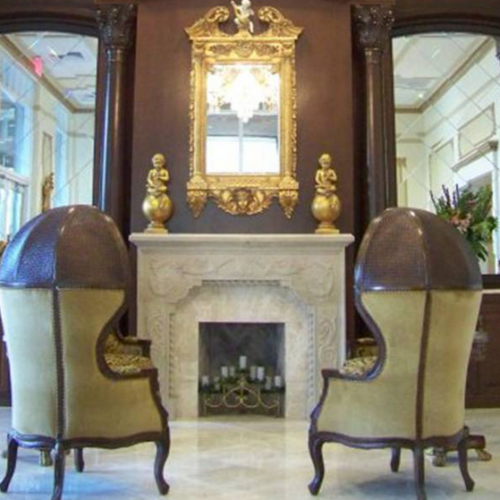 Cast Stone Mantel Small Fireplace