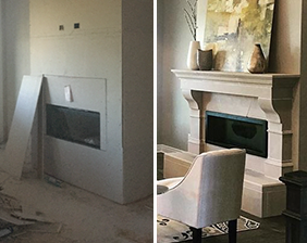 Stamford With Raised Hearth Before & After